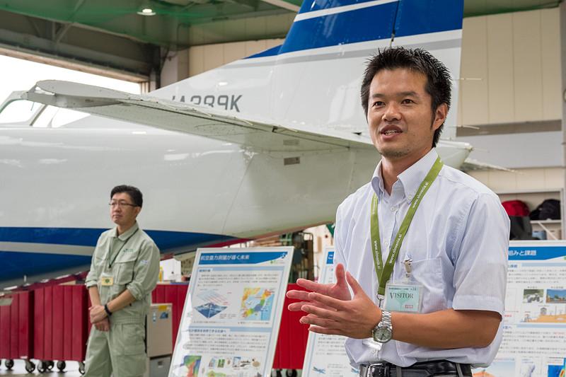 航空重力測定について説明した国土交通省 国土地理院 測地部 測地技術調整官 矢萩智裕氏