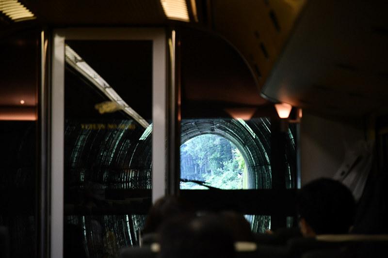 日田駅を過ぎるとトンネルが長く続くゾーンに入る