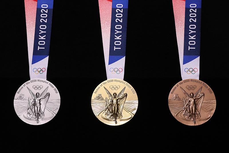 メダルの表面デザイン(写真提供:Tokyo 2020)