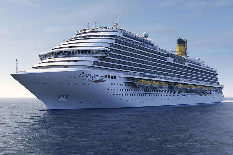 東京国際クルーズターミナルでホテルシップとしての利用が計画されているコスタクルーズ保有の客船「コスタ・ベネチア」(C)コスタクルーズ