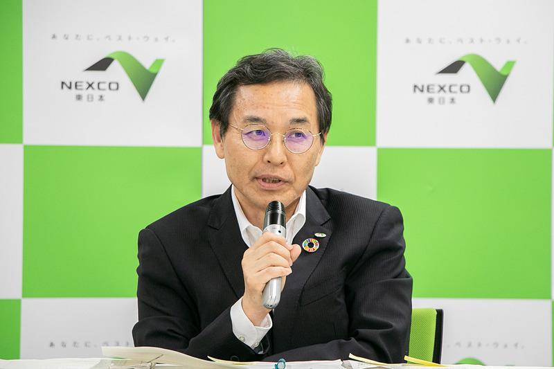 東日本高速道路株式会社 取締役兼常務執行役員 管理事業本部長 髙橋知道氏