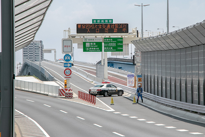 NEXCO東日本、首都高、一般道の一部で交通規制試行を実施した