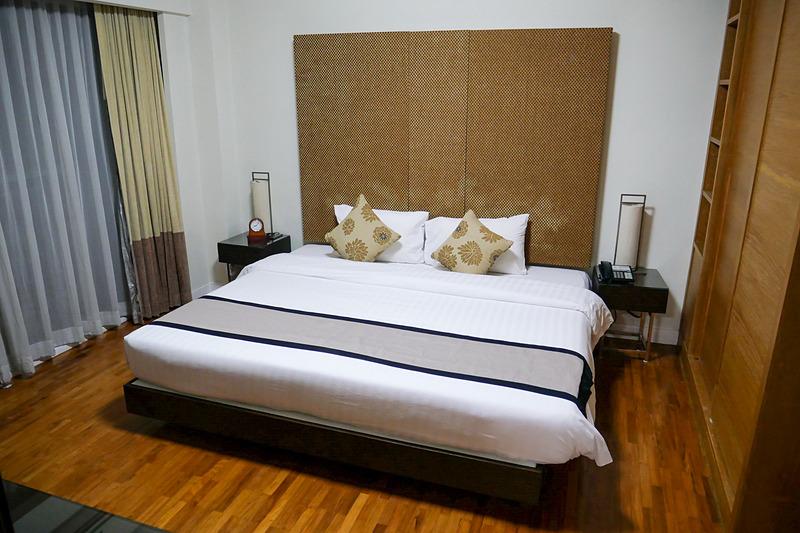 独立したベッドルームでゆっくり身体を休められる