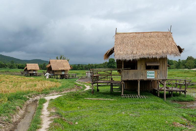 藁葺きのコテージがあり、1泊600パーツで宿泊可能