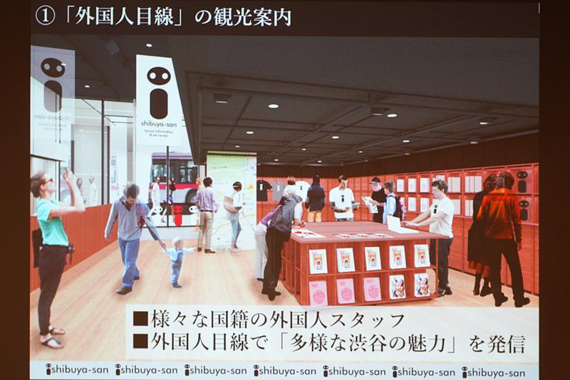 観光支援施設「shibuya-san」は、外国人目線の観光案内所