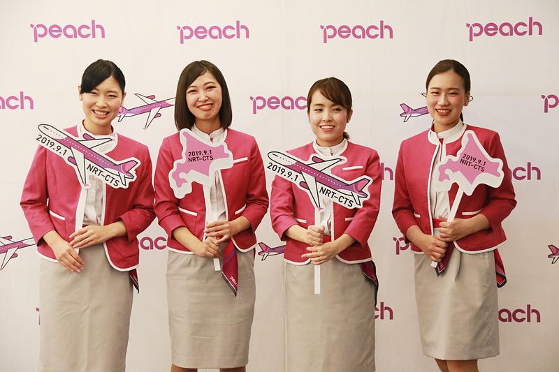 ピーチがバニラエアから移管した成田~新千歳線んお運航を開始した