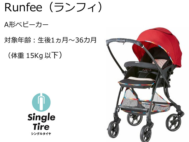 Runfee(対象:生後1か月~36か月・体重15kg以下)