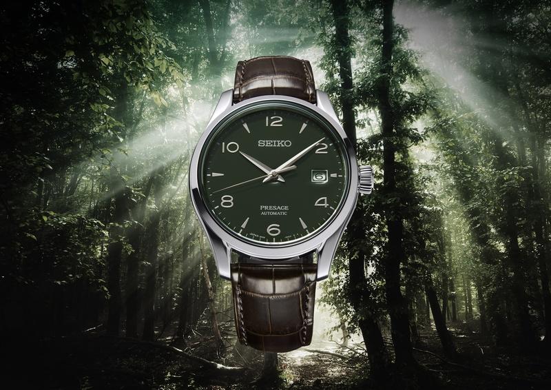 「セイコー プレザージュ」 Prestige Line Green enamel dial Limited Edition