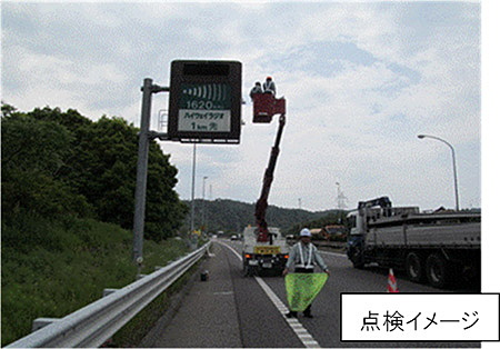 道路付属の点検・補修イメージ