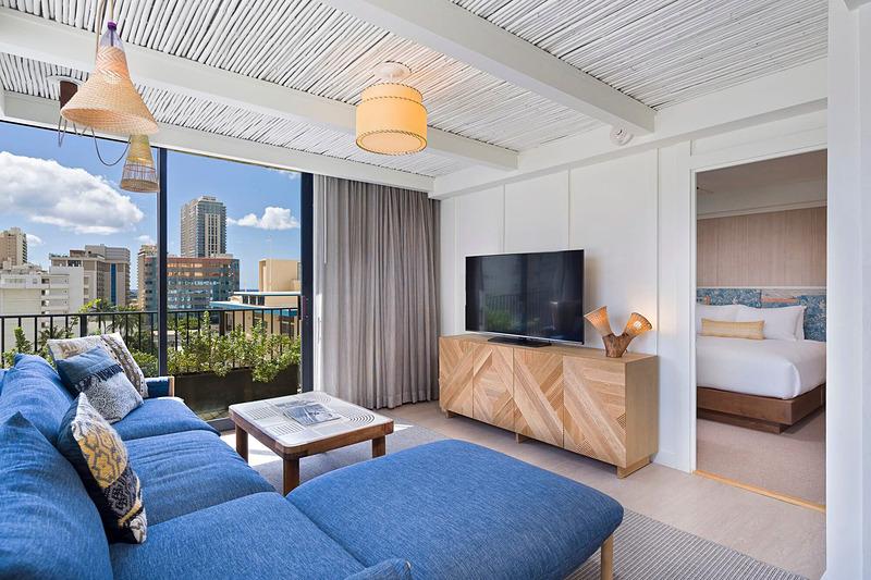 「星野リゾート サーフジャック ハワイ」の客室イメージ(写真提供:星野リゾート)