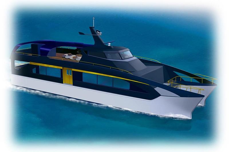 JR西日本グループと瀬戸内海汽船グループが新造する観光型高速クルーザー「SEA SPICA(シースピカ)」