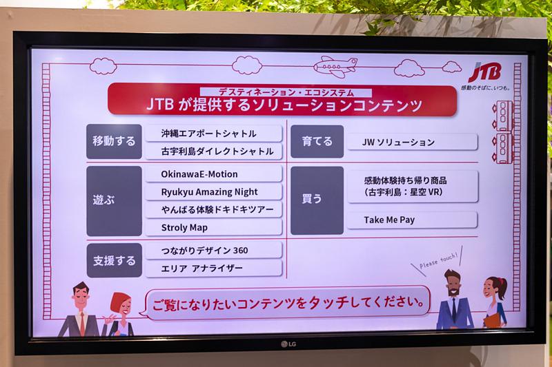JTBがソリューションコンテンツとして提供しているサービス