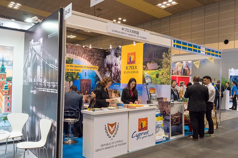 日本人旅行者が増加するキプロス共和国のブース