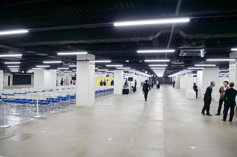 CIQホールは約4200m<sup>2</sup>の空間があり、客船がいないときにはイベントホールとして活用