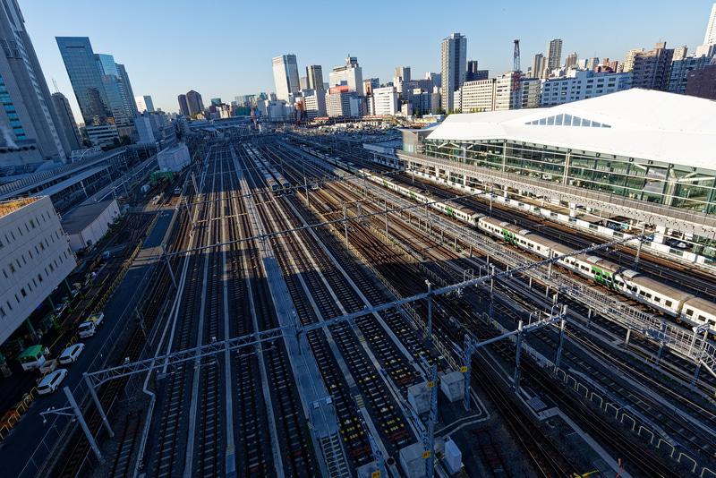 品川駅方面を望む。品川駅からはさほど離れていないように感じる