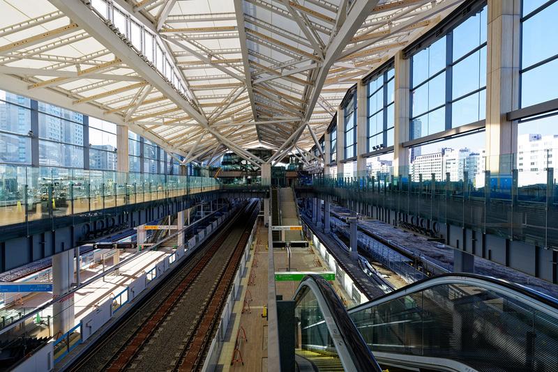 品川駅方向(南側から)の視点