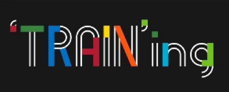 「'TRAIN'ing」ロゴ