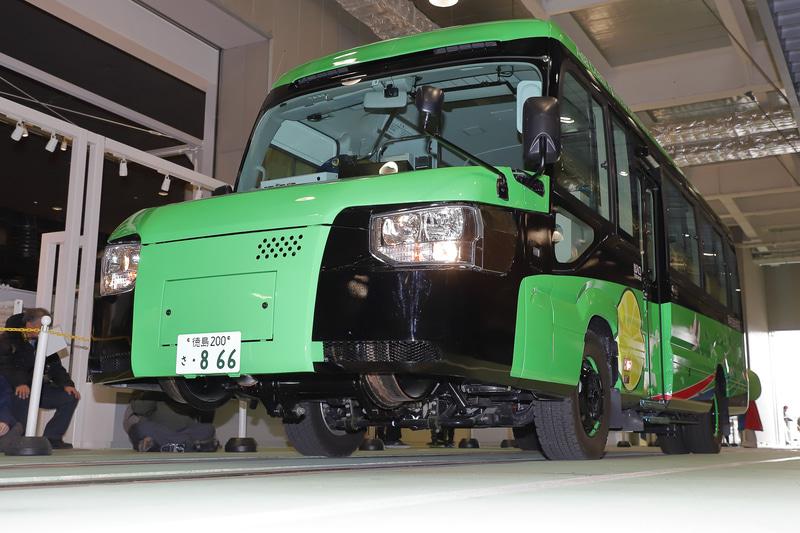 バスモード→鉄道モードへのチェンジ