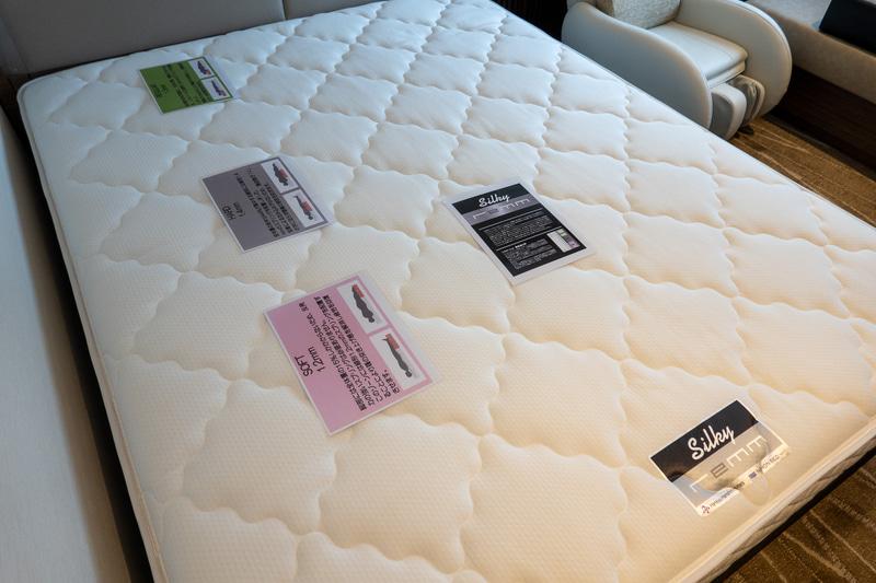 日本ベッドと共同開発したポケットコイルマットレスの「シルキーレム」