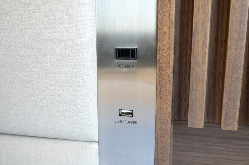 ACコンセントとUSB充電ポート