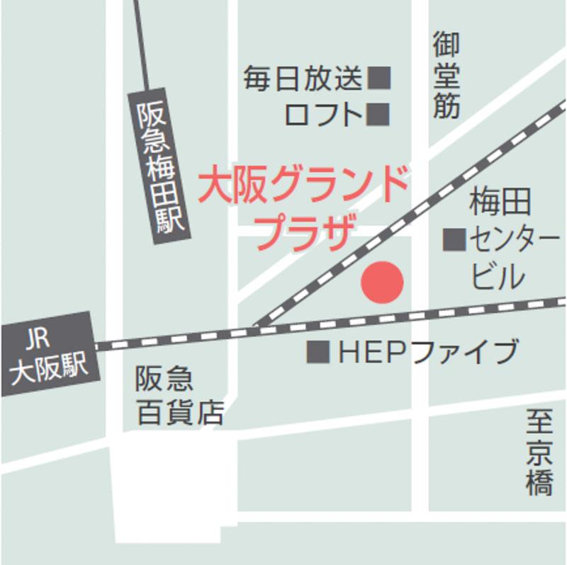 「ワタベウェディング 大阪グランドプラザ」案内図