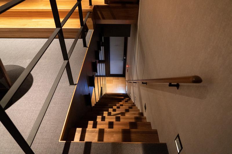 階段を降りると温泉フロア