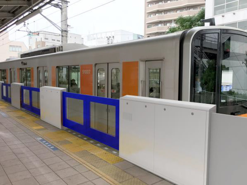東上線 志木駅 4番ホームのホームドア設置イメージ