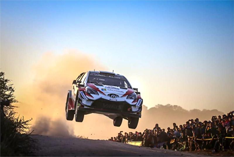 JALとトヨタ自動車のGAZOO Racing World Rally Teamがパートナー契約。写真はTOYOTA GAZOO Racingの「2020 WRC Yaris」