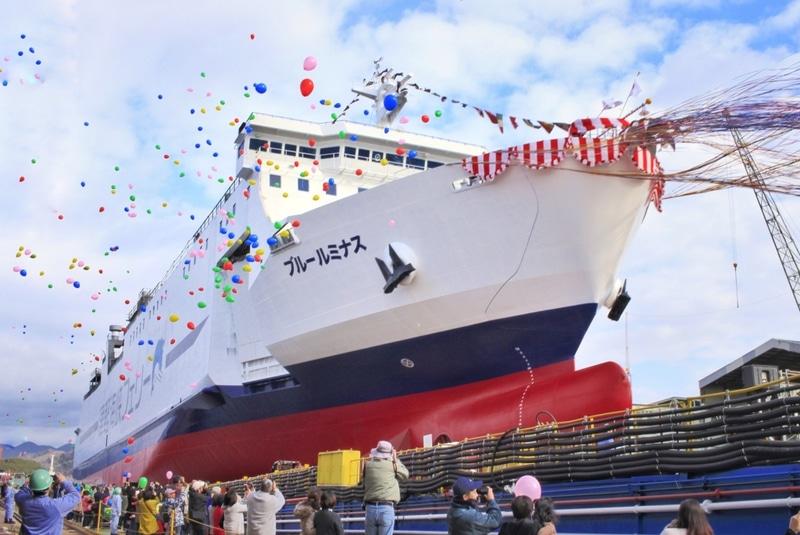 津軽海峡フェリーの新造船「ブルールミナス」