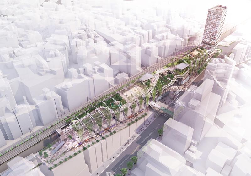 三井不動産は渋谷区の宮下公園を低層複合施設「MIYASHITA PARK」として6月にグランドオープンする