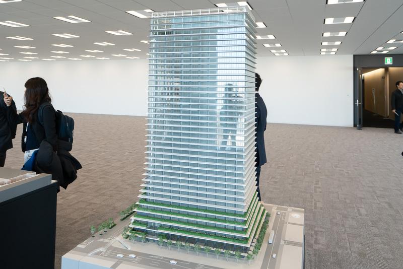 虎ノ門ヒルズ ビジネスタワーの模型