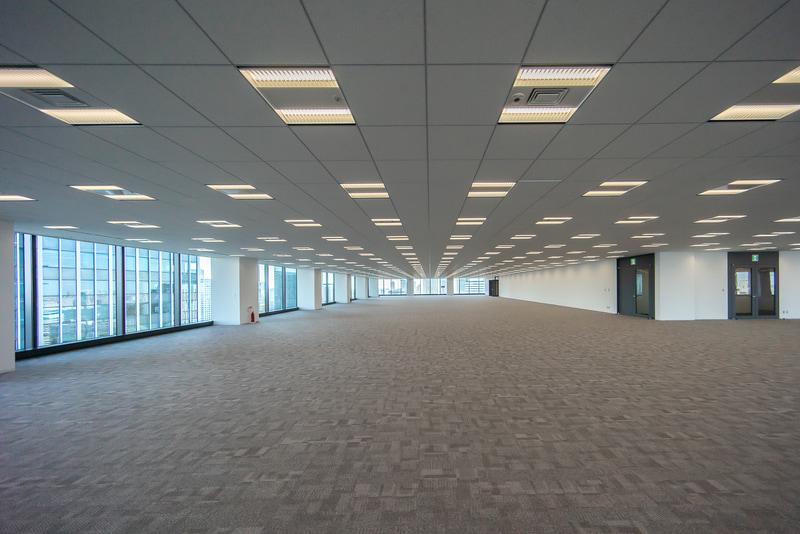 オフィス基準階フロア。すでに全室満室