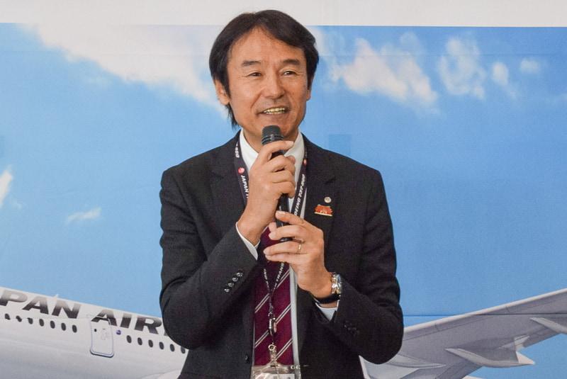 日本航空株式会社 沖縄航空支店長 岡栄作氏