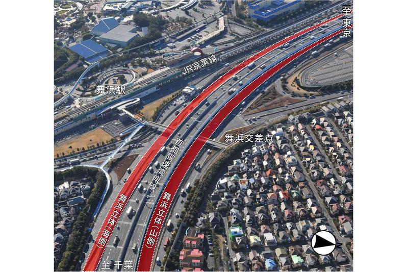 舞浜交差点を立体化する「舞浜立体」が2020年6月ごろに開通との見通し