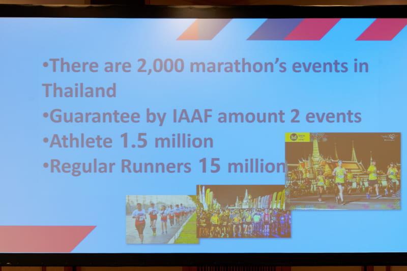 タイ国内では2000ものマラソンイベントが開催されているという
