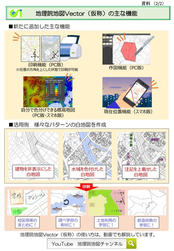 「地理院地図Vector(仮称)」の機能