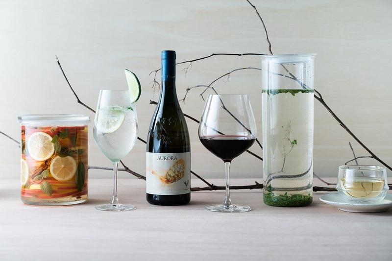 料理に合わせた信州産ワインなども取り揃える