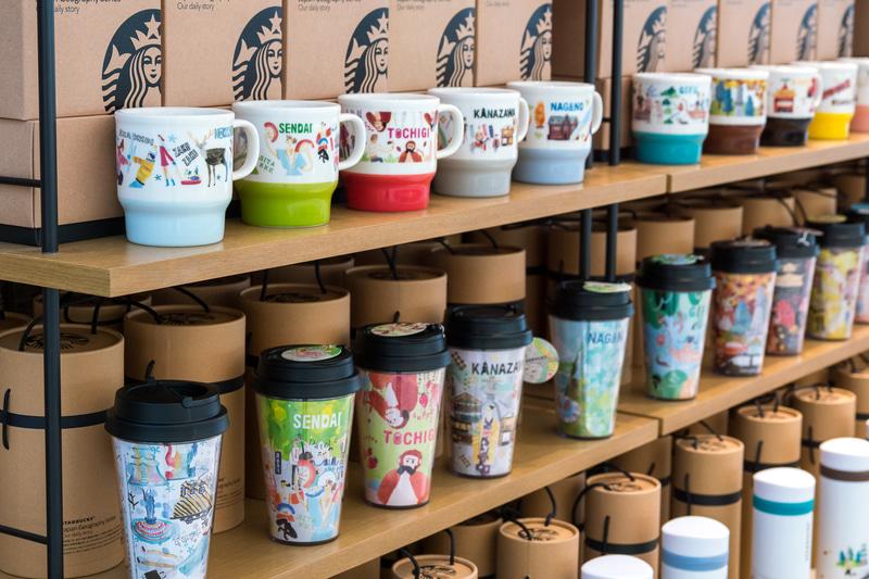 日本各地のご当地マグカップやタンブラーがそろう