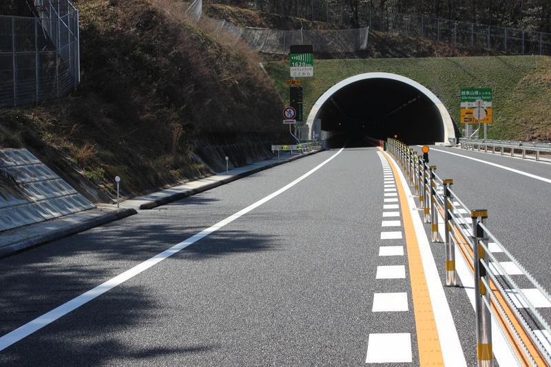 岐阜山県トンネルの東側