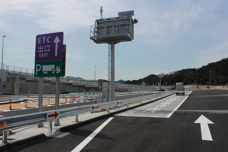 ダブル連結トラックの優先駐車マス