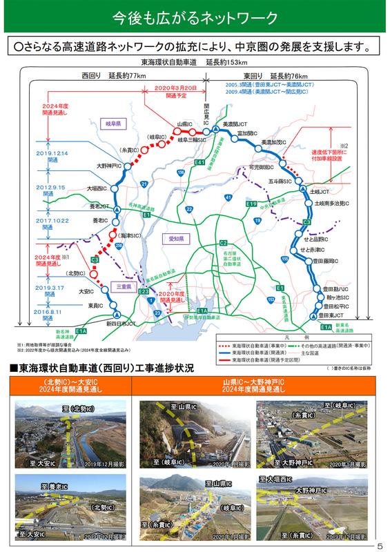 東海環状道の整備状況