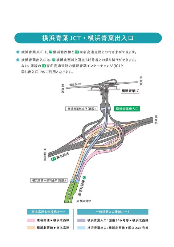 横浜青葉JCT/横浜青葉出入口のルート図