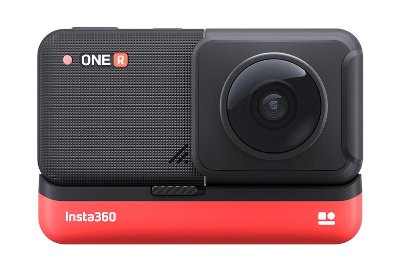 前後に2つのカメラを持つ360度レンズモジュールを搭載