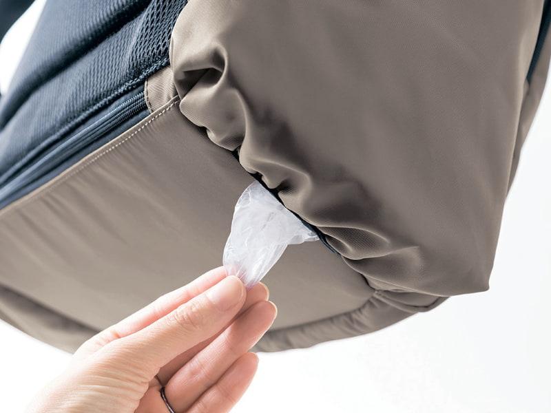 ビニール袋ポケット