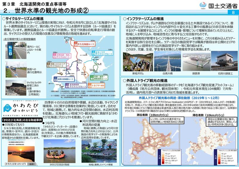 北海道界初の重点事項に挙げられている「世界水準の観光地の形成」に向けた取り組み