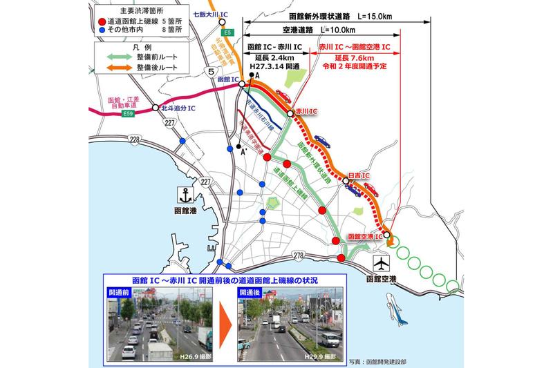 函館空港と函館ICを結ぶ函館新外環状道路 空港道路が2020年度に開通する