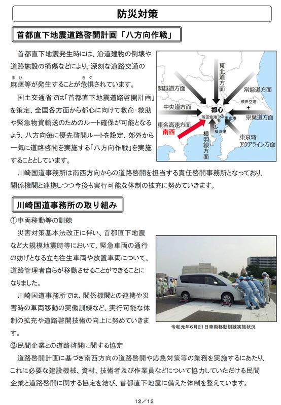 川崎国道事務所の2020年度事業