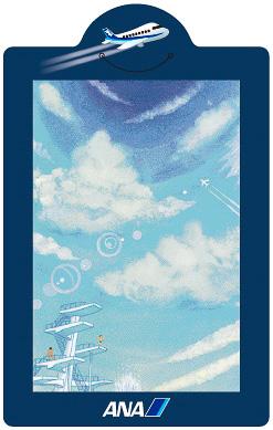 パラリンアーティストによるしおりのデザイン。田村健氏による「Summer moment-夏の一瞬-」