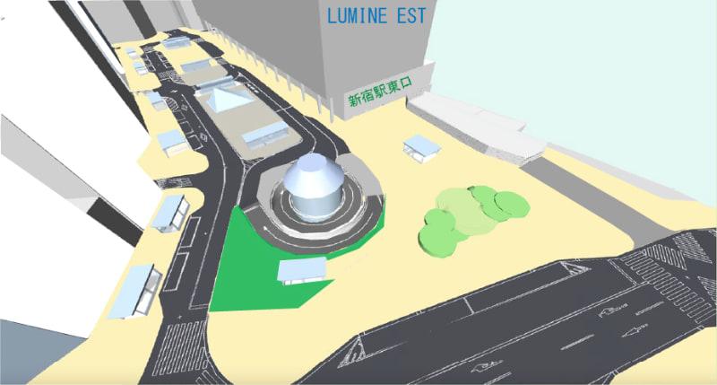 東口駅前広場の完成時のイメージ