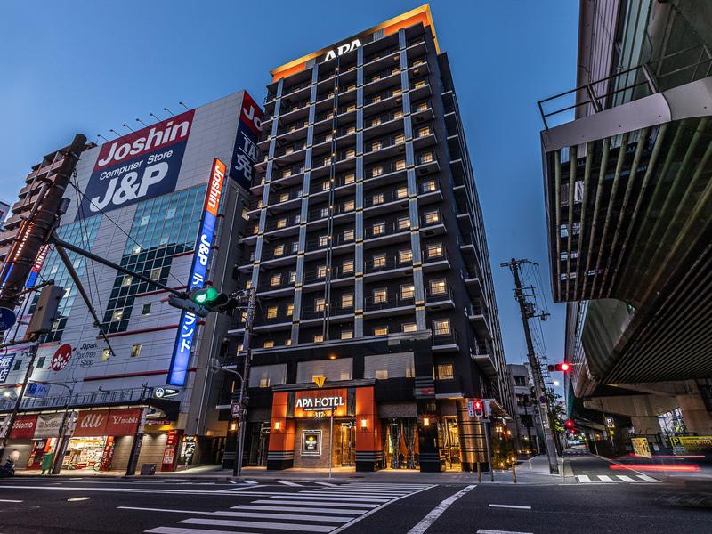 「アパホテル<なんば南 恵美須町駅>」が開業した